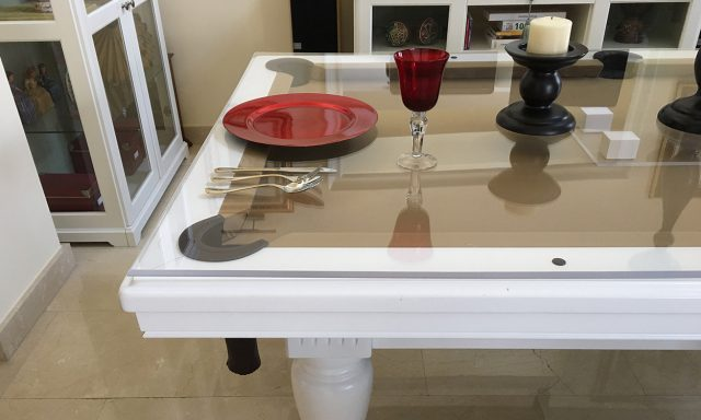Ahorra dinero y espacio con una mesa de billar con tapa