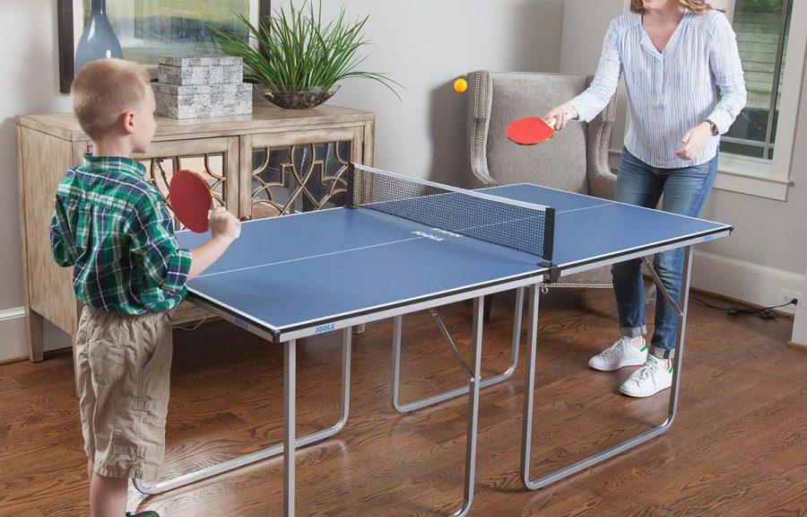 ¿Poco espacio? Prueba con una mesa de ping pong mini