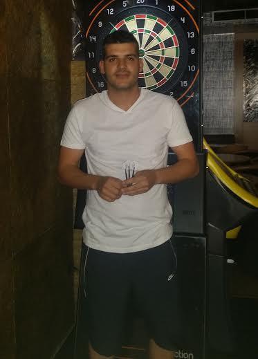 Jugador de dardos Miguel Lopez